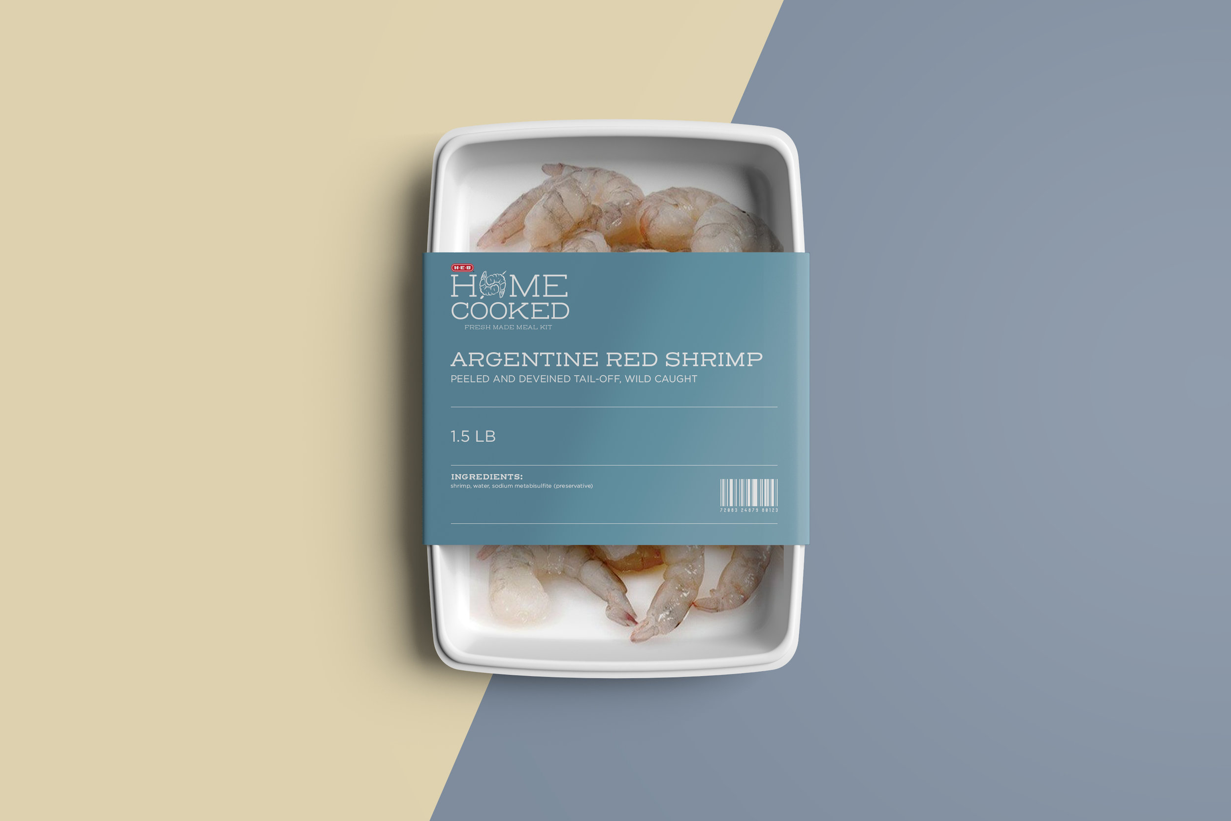Packaging for meats and protein inside the meal kits.