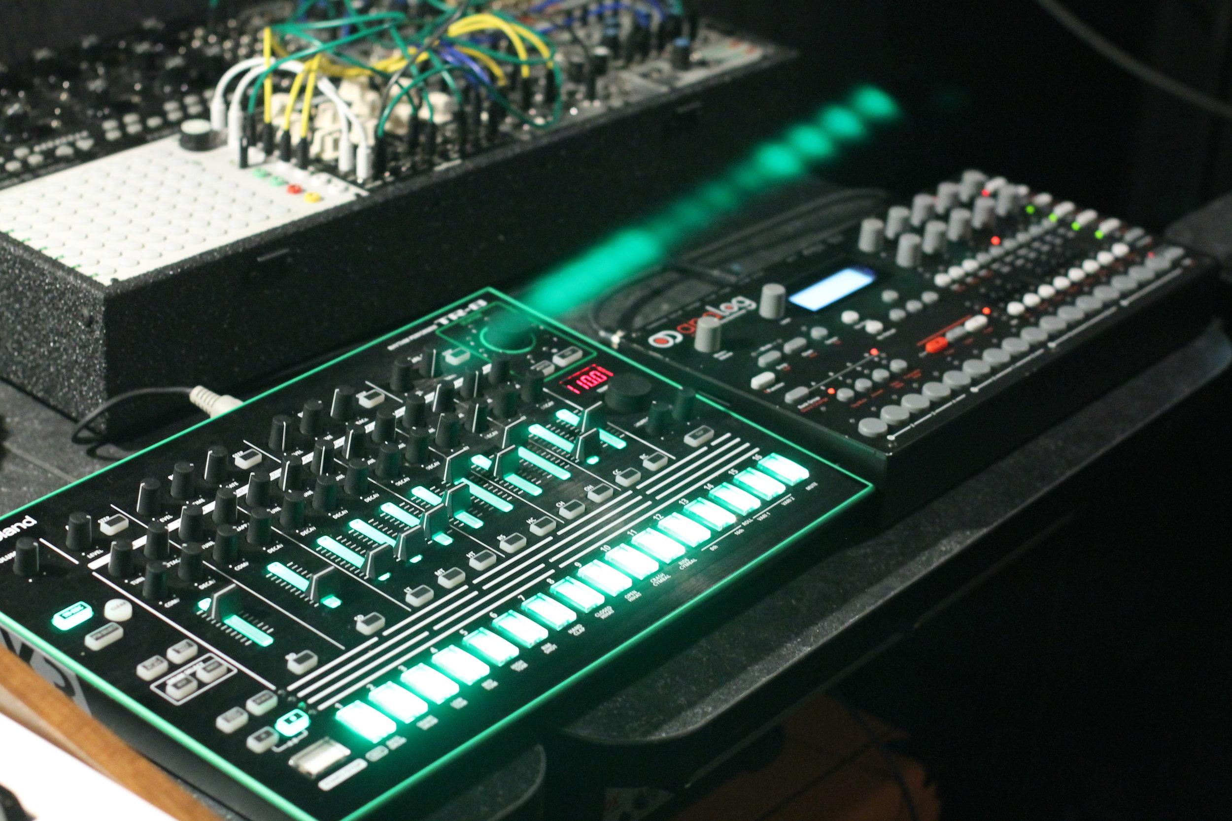Roland TR8, Elektron A4, & Eurorack Modules