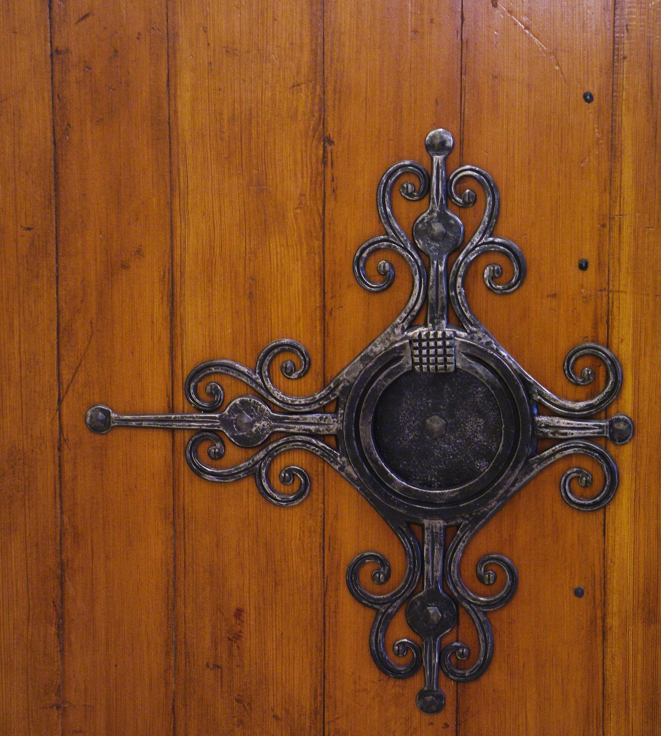 Detail of Door Pull and Escutcheon