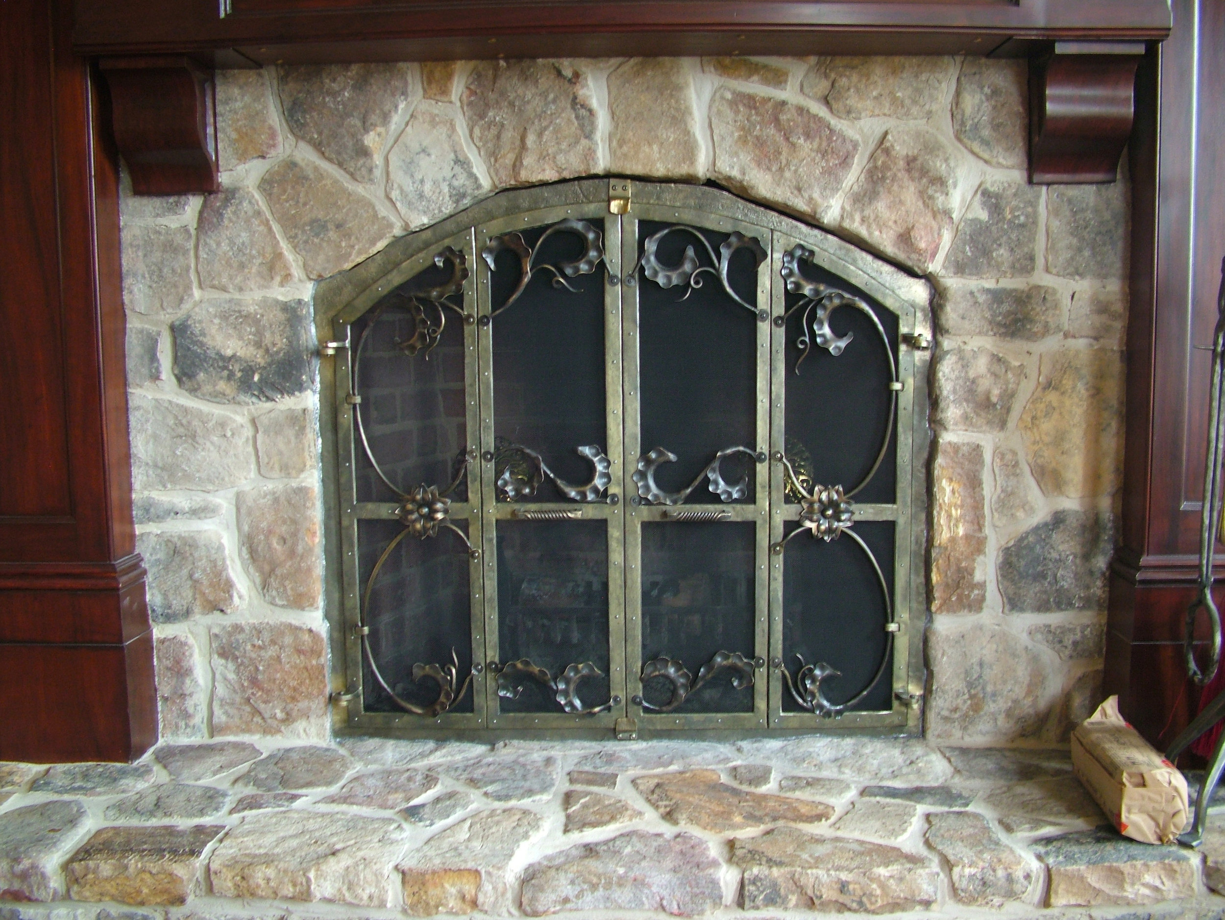 Huber Fireplace Screen Doors