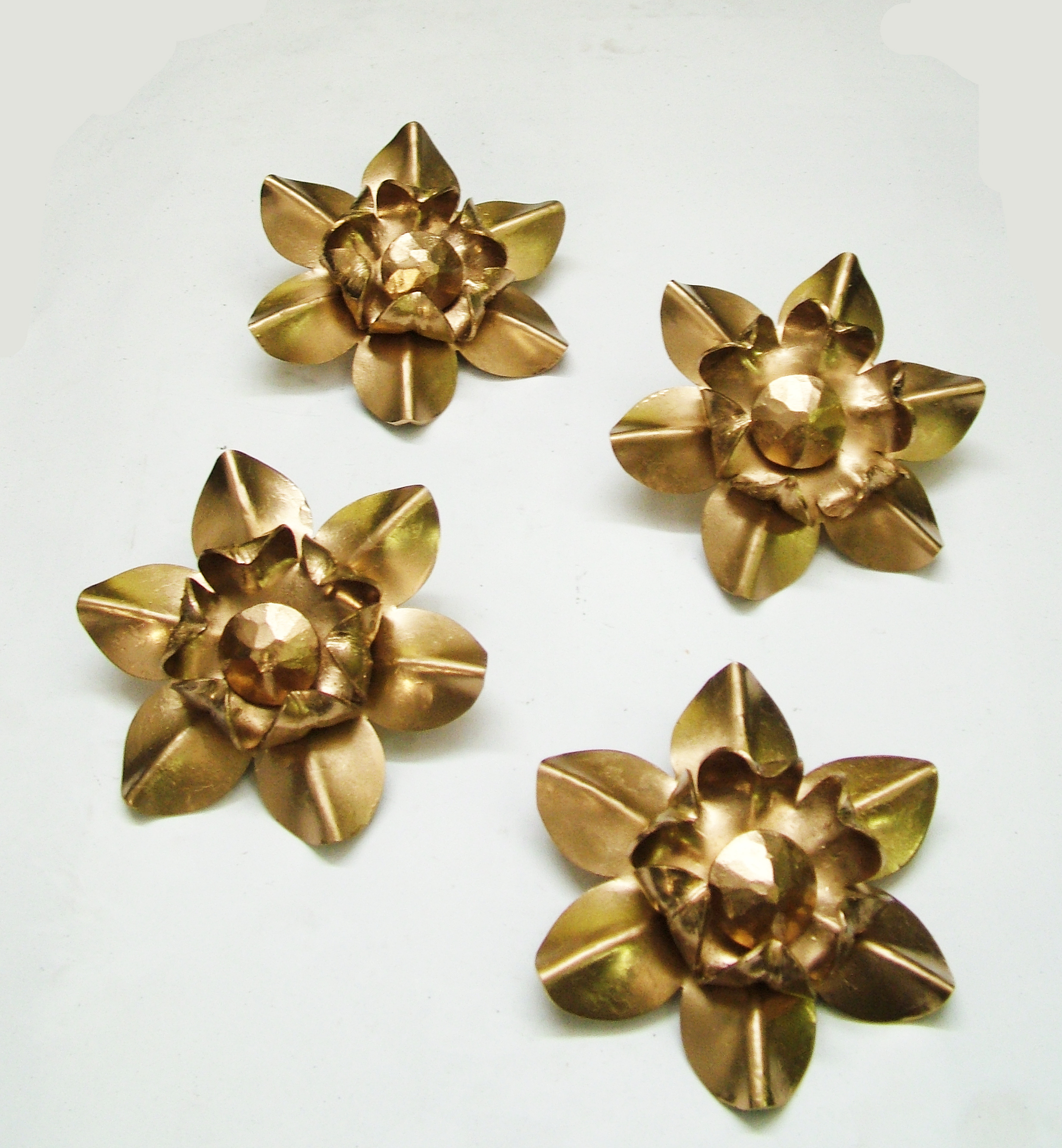 4 of 22 Gold Painted Rosettes for Carriage House