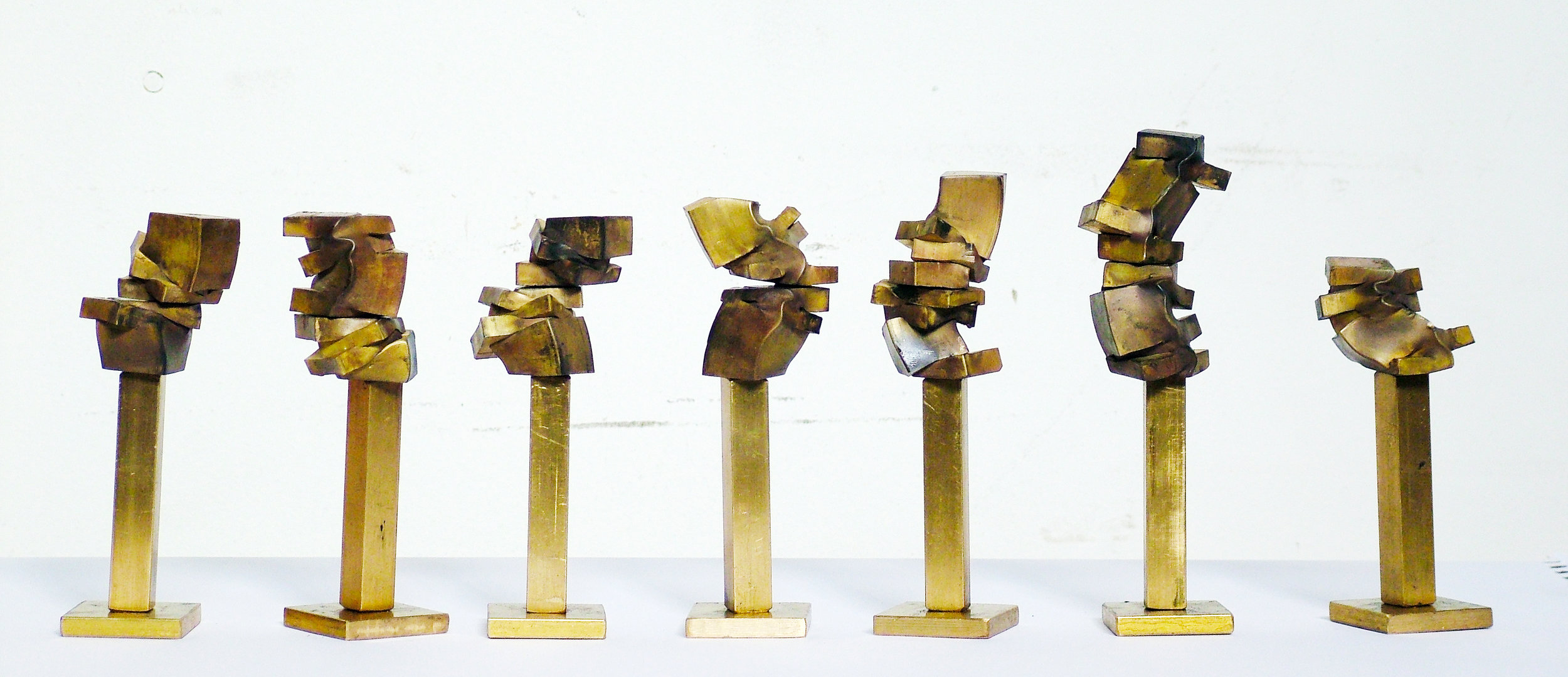 Little Brass Pillars, 7 pieces