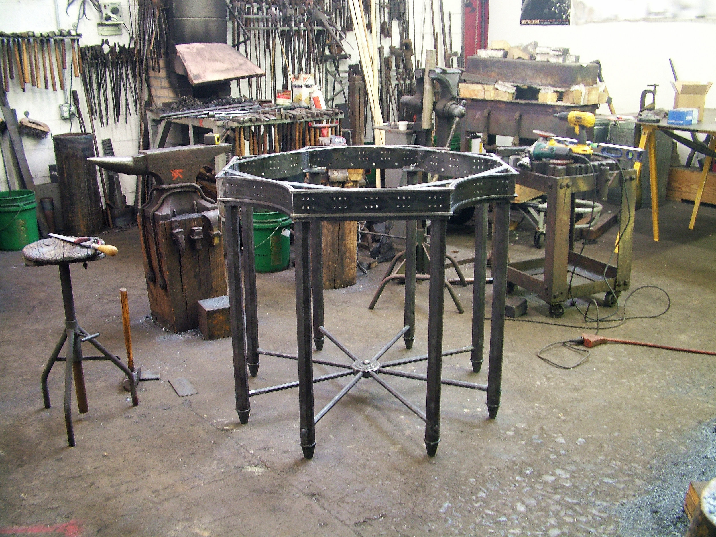 Jefferson Table Under Construction