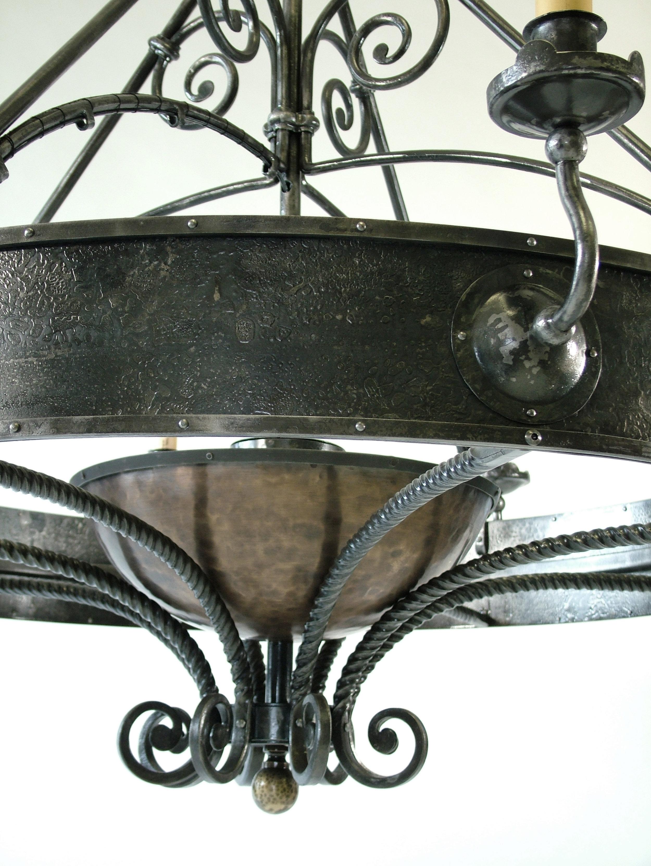 Allen Chandelier, Detail of Brass Globe