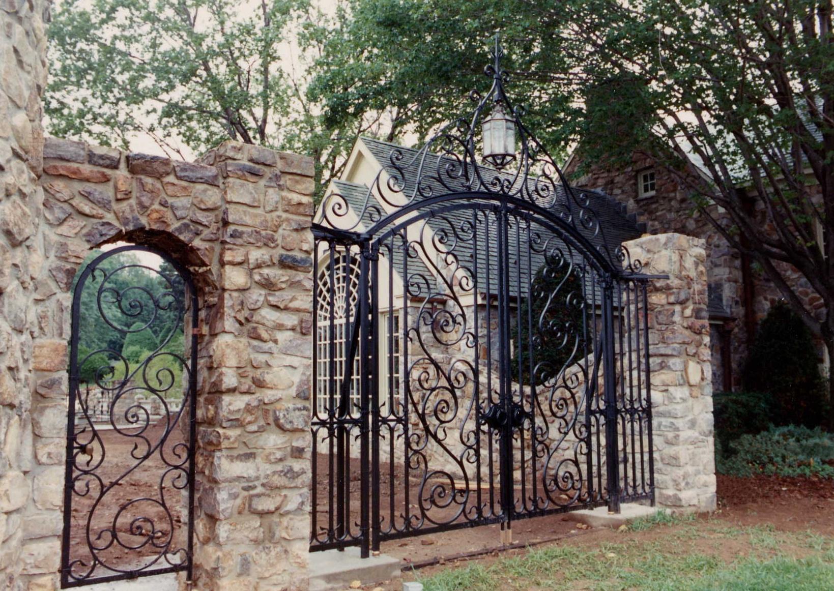 Garden Gates and Lantern