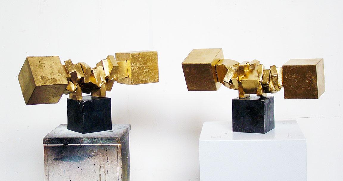 2 Gold Caryatids