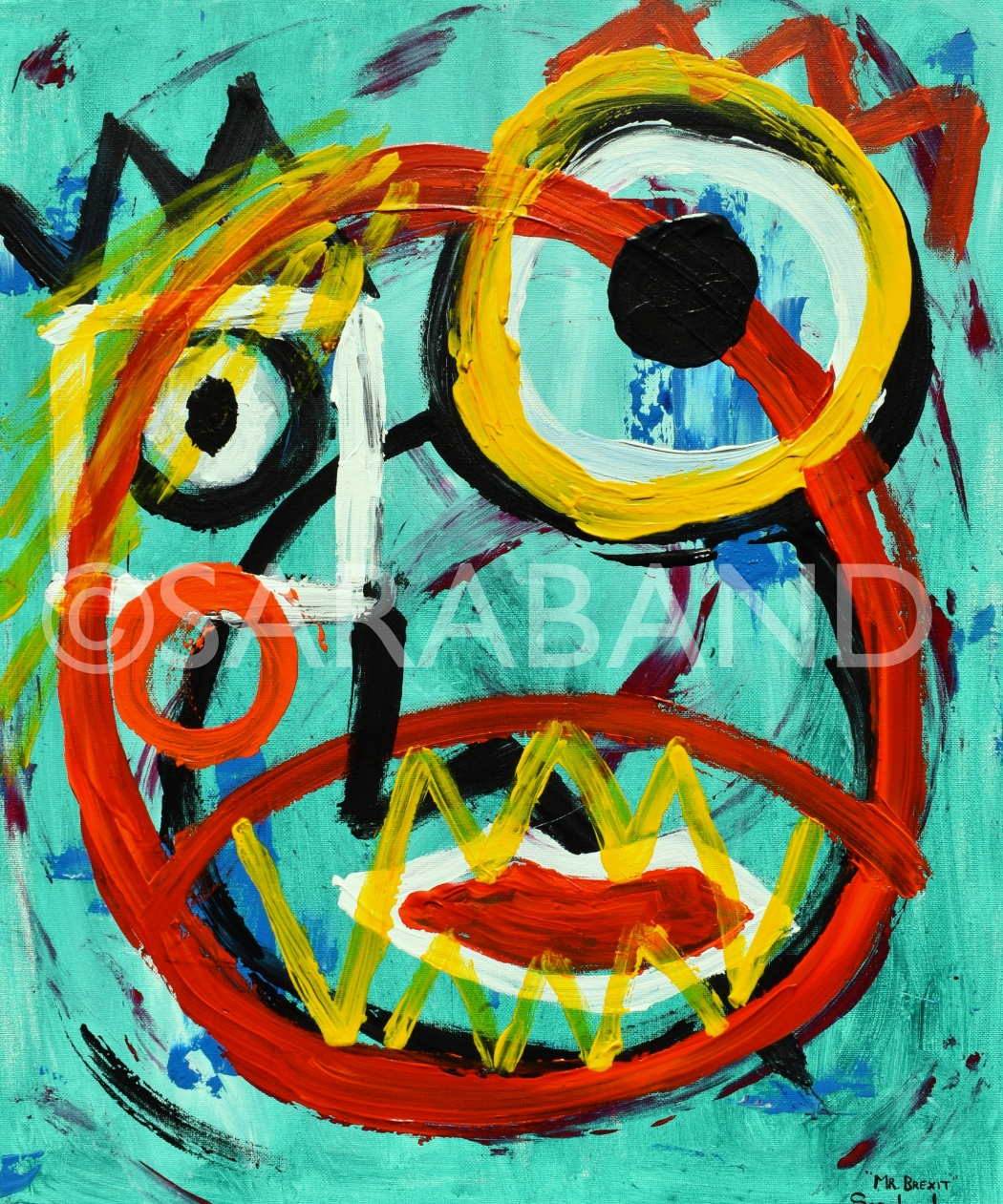 """MR BREXIT"" - 60x50cm, acrylic on canvas - £390"