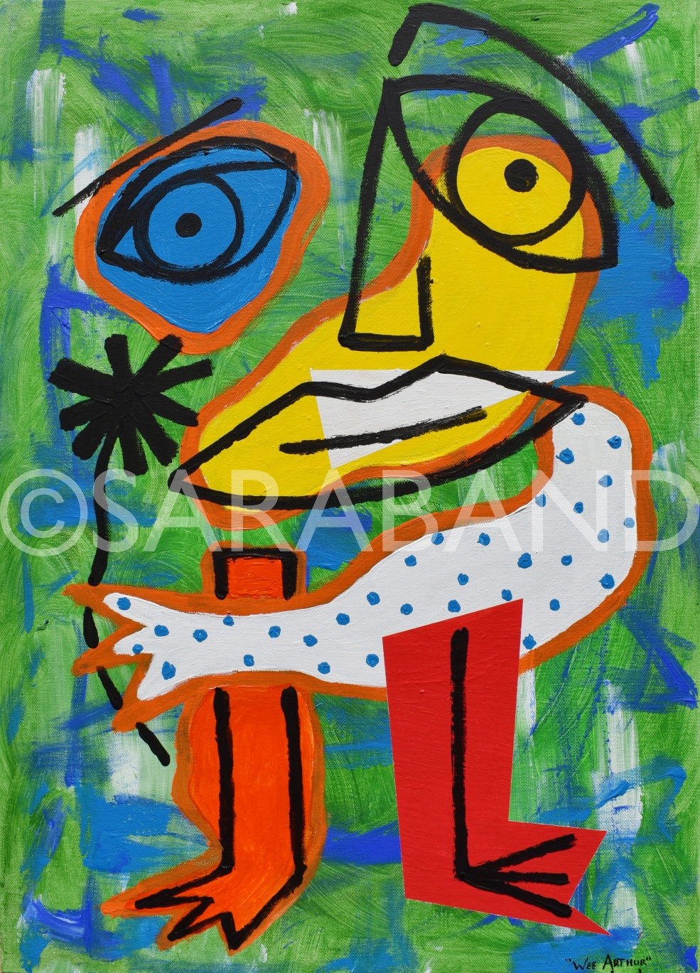 """WEE ARTHUR"" - 70x50cm, acrylic on canvas - £500"