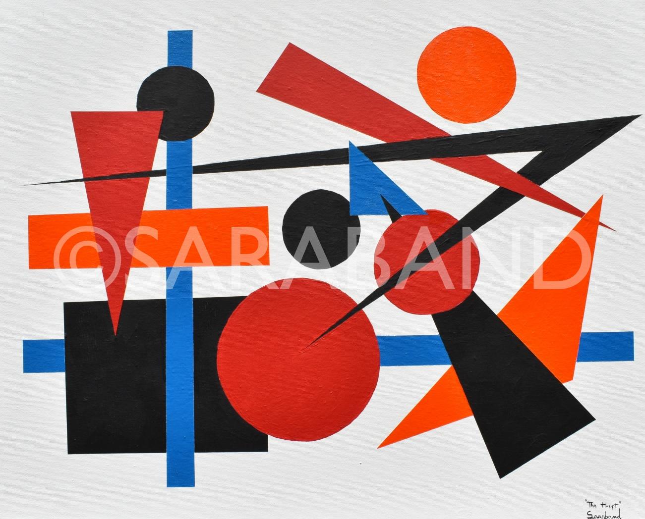 """THE THEFT"" - 40x50cm, acrylic on canvas board - £300  (PRINT AVAILABLE)"