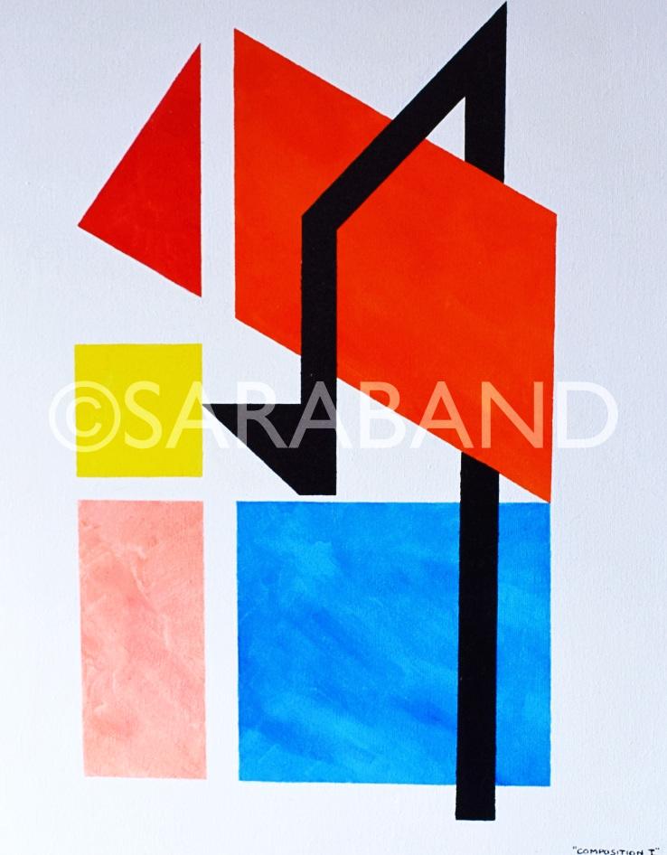 """""""COMPOSITION I"""" - 50x40cm, acrylic on canvas - £300"""