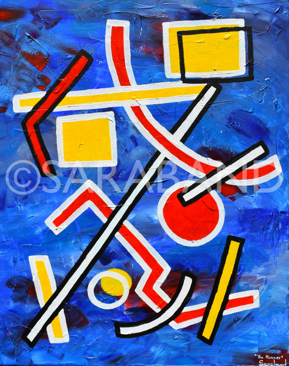 """""""THE RUNNER"""" - 50x40cm, acrylic on canvas - £300  (SOLD)"""