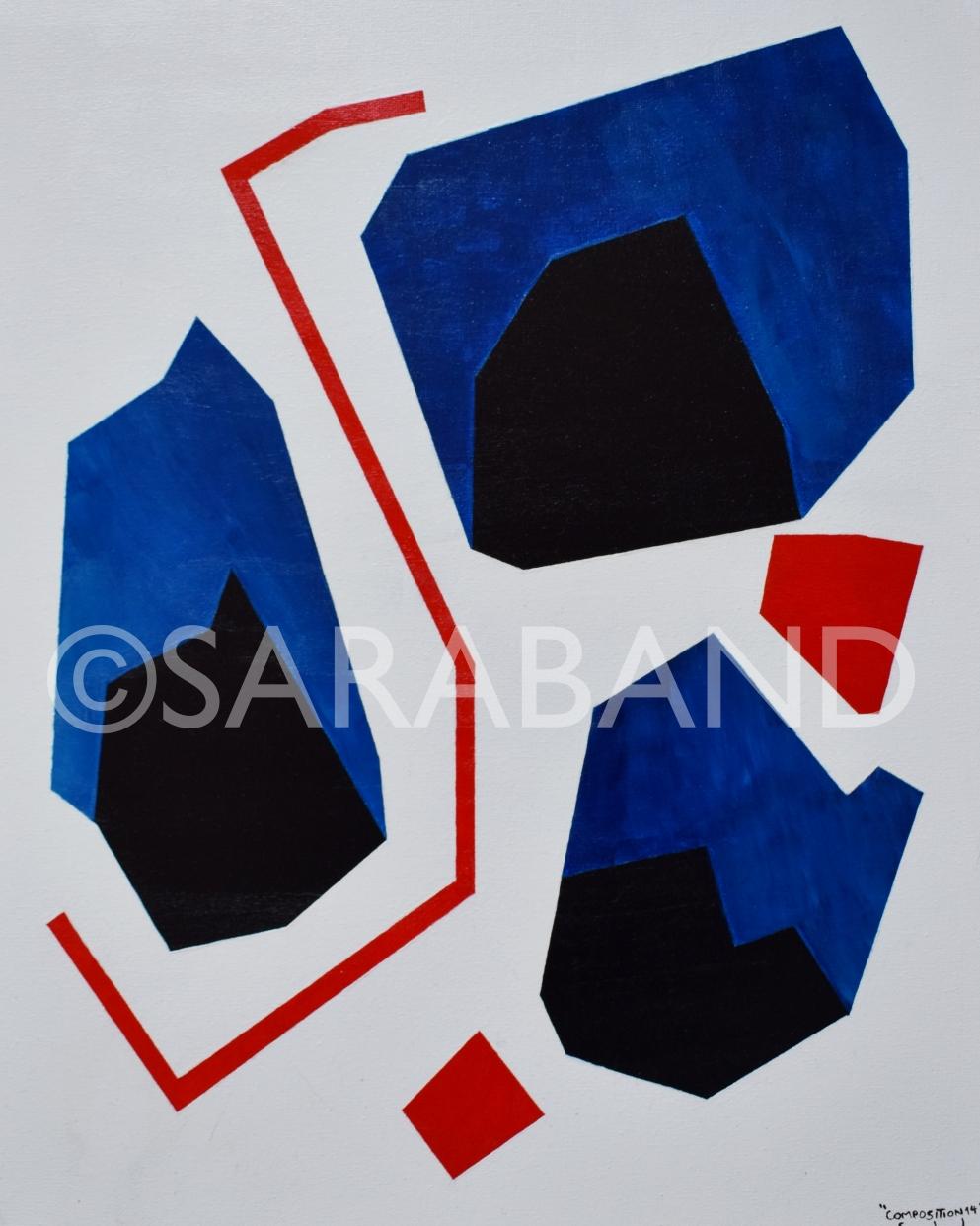 """""""COMPOSITION 14"""" - 50x40cm, acrylic on canvas - £300"""