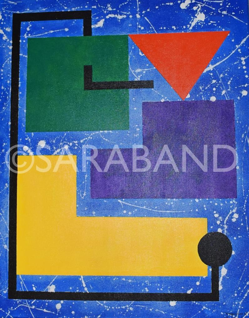 """""""COMPOSITION 2"""" - 75x61cm, acrylic on canvas - £600"""