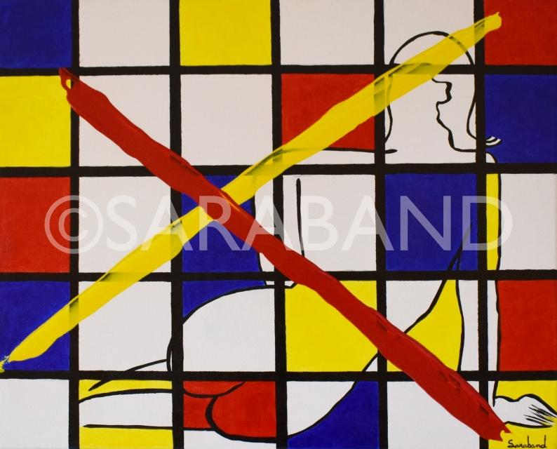 """""""I PAINT MODERN"""" - 40x50cm, acrylic on canvas - £300"""