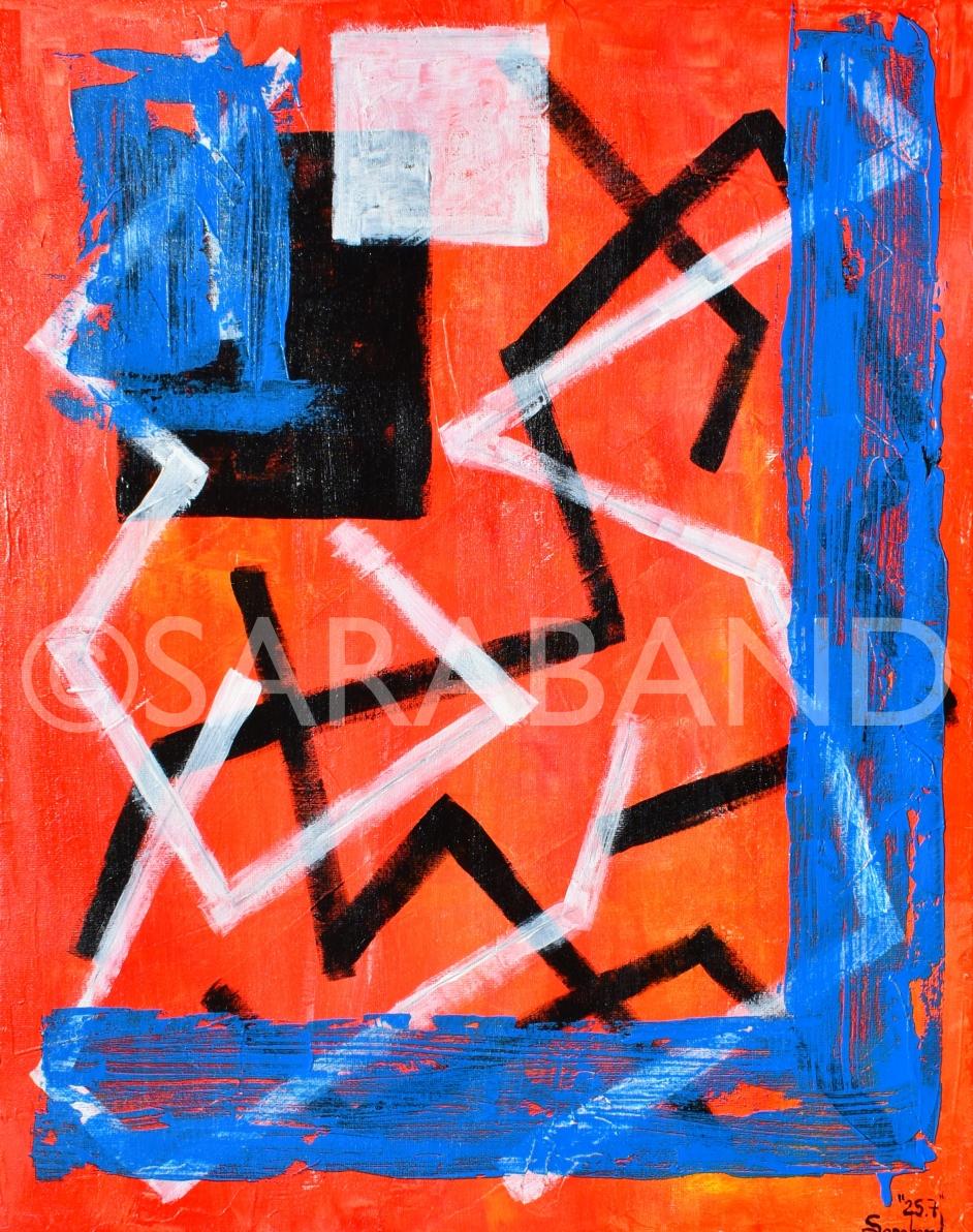 """25.7"" - 50x40cm, acrylic and pencil on canvas - £200"
