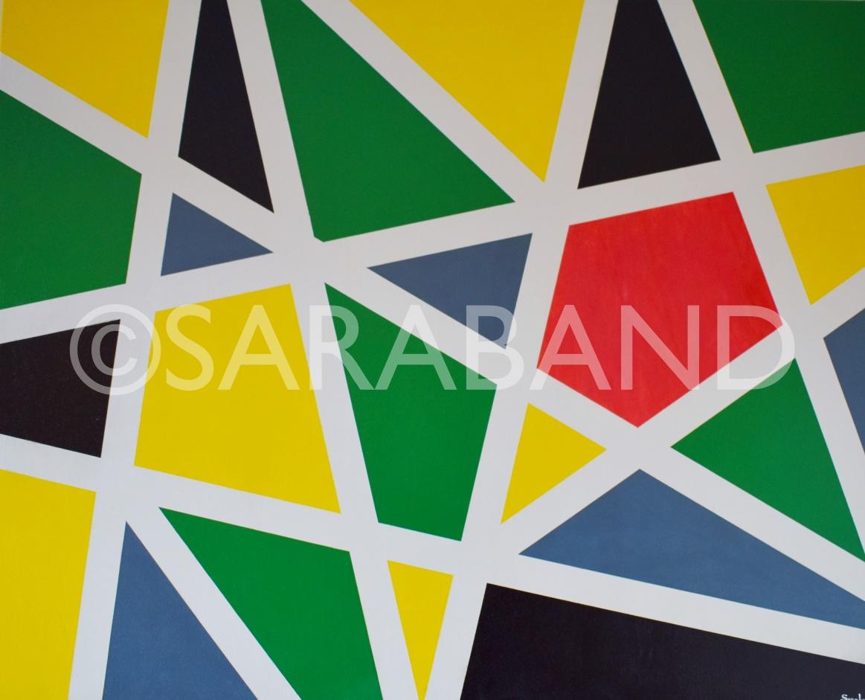 """STARRY LINES"" - 80x101cm, acrylic on canvas - £650"
