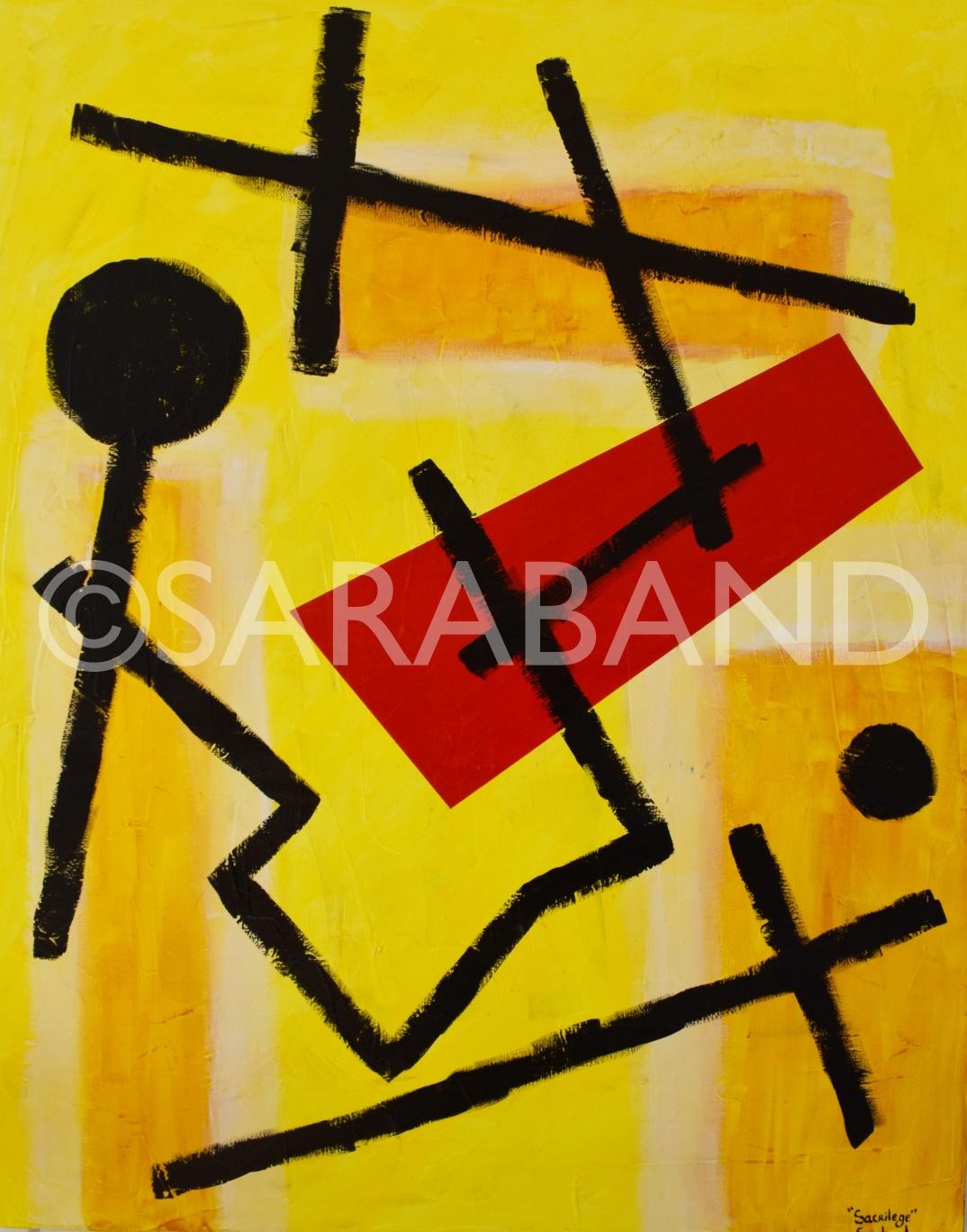 """""""SACRILEGE"""" - 80x60cm, acrylic on canvas - £600"""