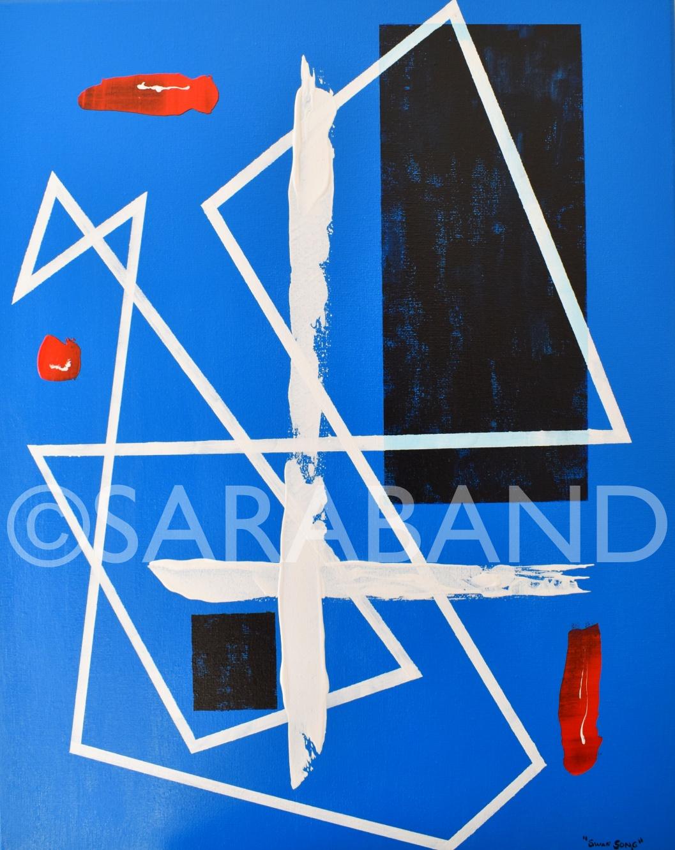 """""""SWAN SONG"""" - 50x40cm, acrylic on canvas - £300"""