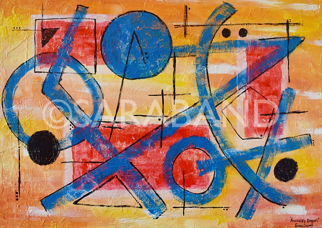 """ANDROID'S DREAM"" - 50x70cm, acrylic on canvas - £500"