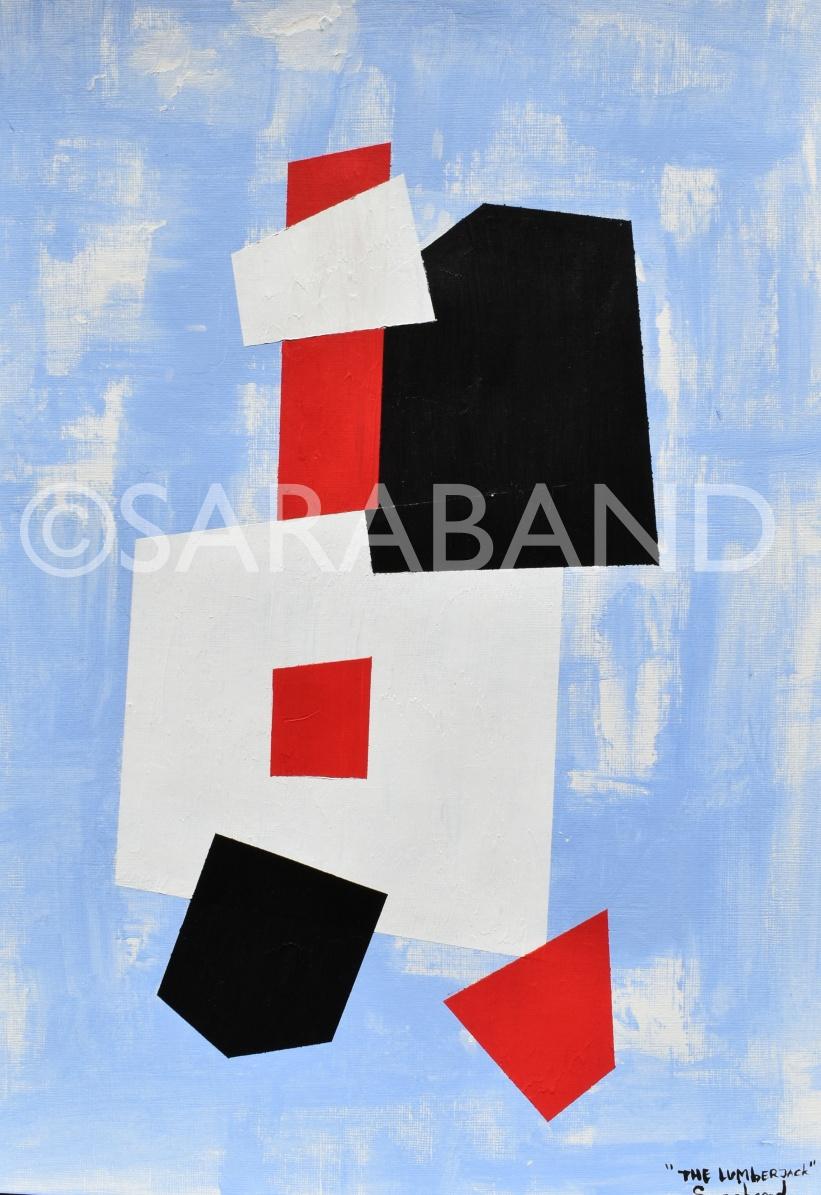 """THE LUMBERJACK"" - 42x29cm, acrylic on paper - £200"