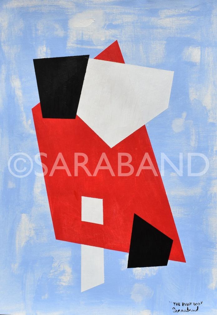 """THE PILOT DOG"" - 42x29cm, acrylic on paper - £200"