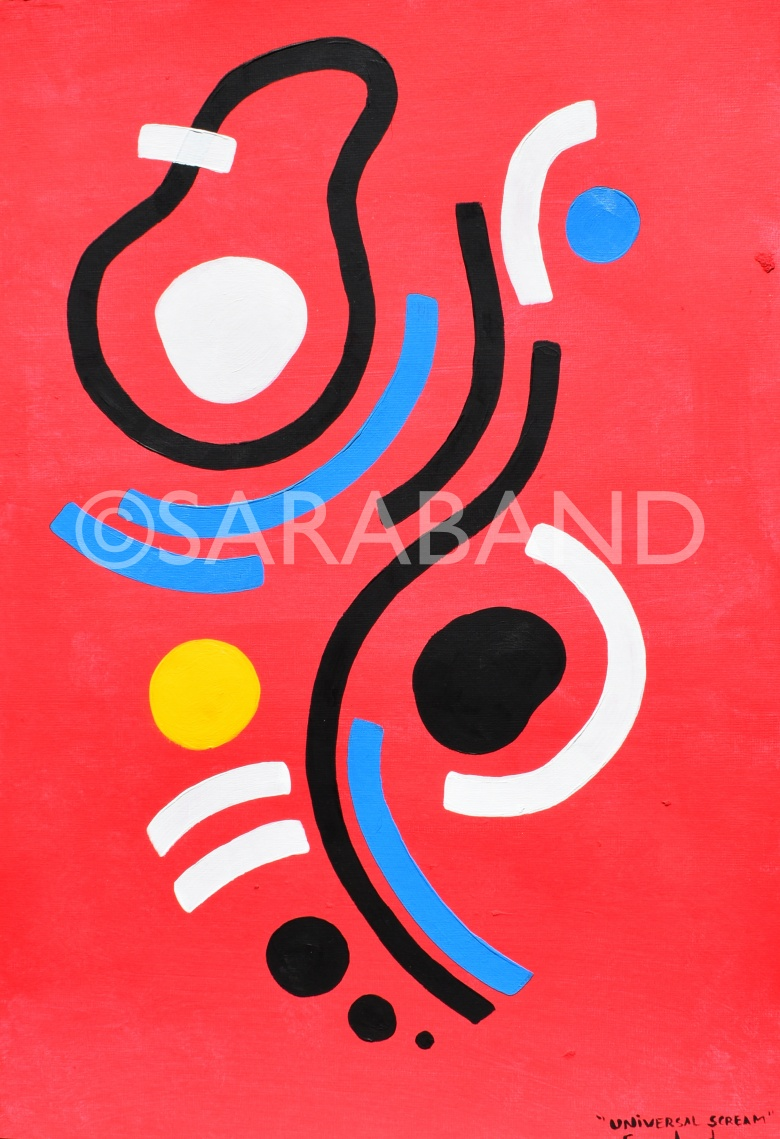 """UNIVERSAL SCREAM"" - 42x29cm, acrylic on paper - £220  (PRINT AVAILABLE)"