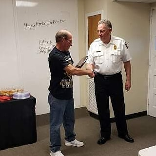 This morning at 0800 FF/Medic Rick Thompson ended his 30 years of service in the South Carolina Fire/Rescue field. FF/Medic Thompson worked for the Hilton Head Island Fire District before serving 20 years with Beaufort County EMS and then working the last 11 years with Jasper County Fire-Rescue. During his time with Jasper County Fire-Rescue, he also served as a South Carolina Fire Academy instructor teaching many of our current and former volunteer and career firefighters. FF/Medic Thompson it has been a pleasure to serve alongside you, enjoy your retirement brother.