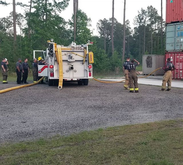 Great night working with these guys. Some engine company commercial occupancy drills. Lines on the ground, lines in the building. Great Team building.