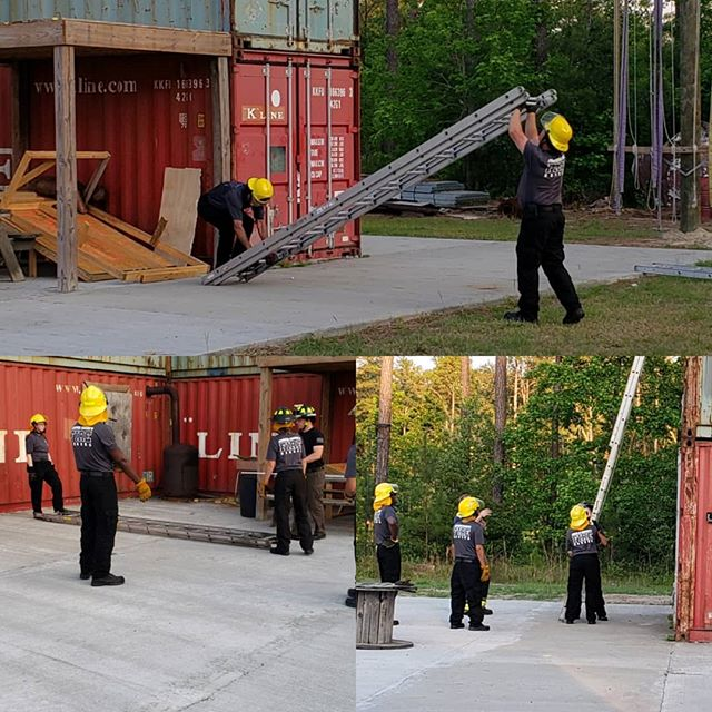 A dedicated group of individuals. They work their full-time jobs during the day, and once a week come train. Why? Service to their community. On 5/28 these individuals spent several hours working on ladder skills. #joinourteam DM or email FDinfo@jaspercountysc.gov for more information.
