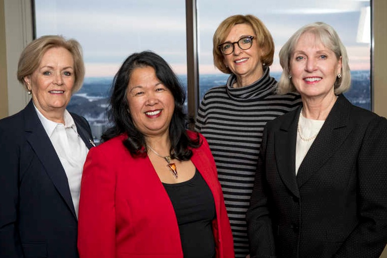 Left to right: Ms. Cathy MacDonald (Jan-June), Ms. Levonne Louie, Ms. Margaret Munsch, Ms. Kate Wood, Q.C. (Council President)  Missing: Ms. Laurie Steinbach (July to Dec.)
