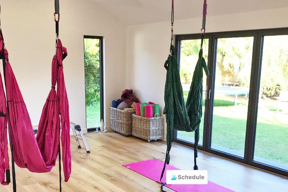 aerial yoga -