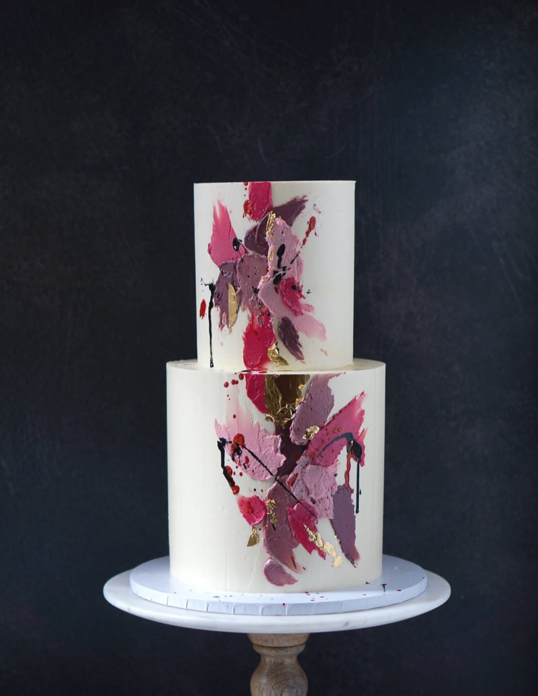 Pink abstract cake