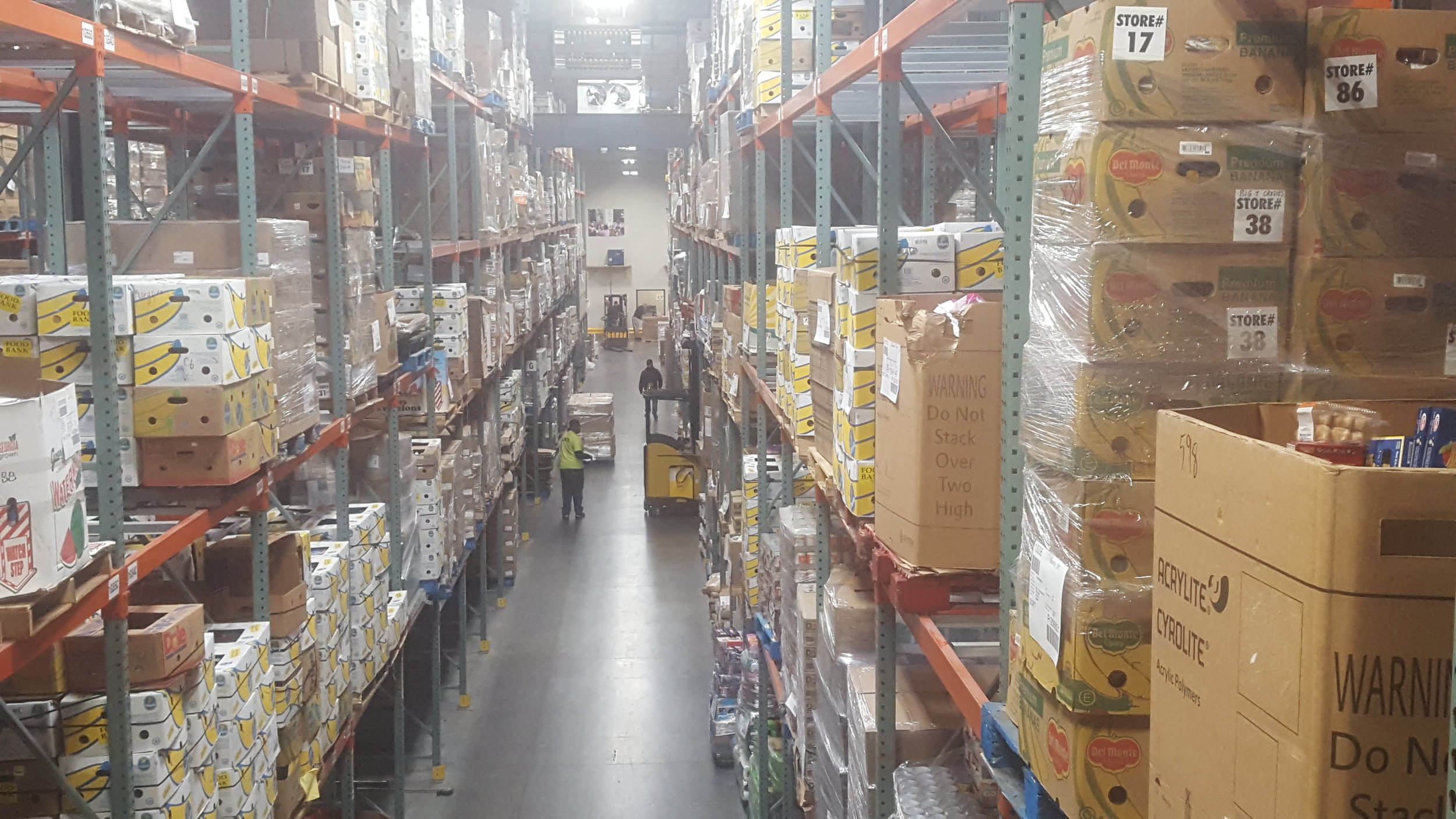 The Connecticut Food Bank Warehouse in Wallingford.