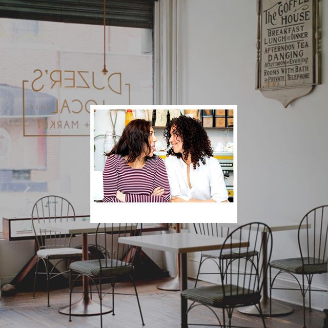 Collages are the newest trend to sweep the instagram world! It's a fun way to show multiple photos at once, like this shot of the owners of @duzers.local set upon a photo of the cafe itself.  Would you consider using collages on social?