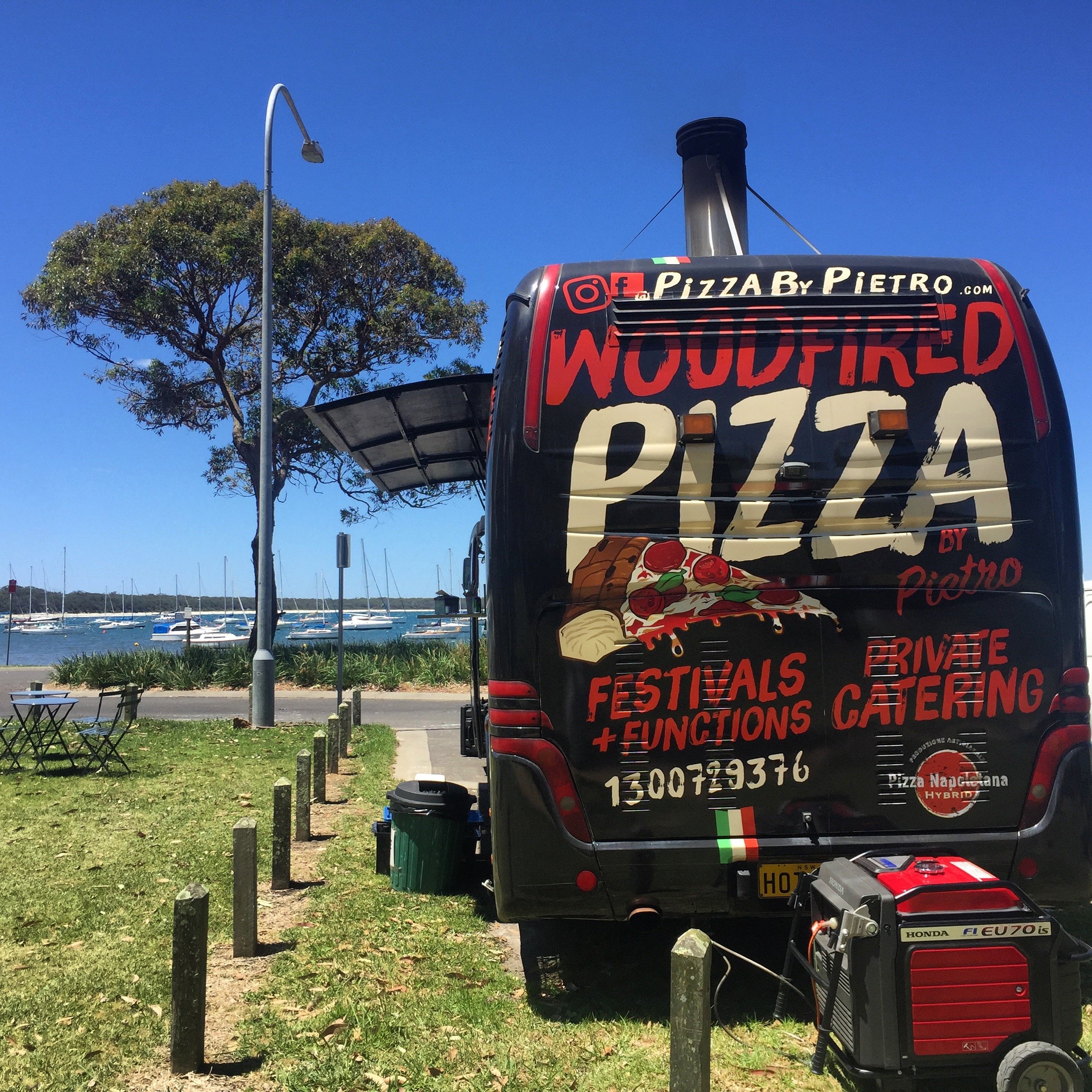 Hand-made and authentic Italian - Pizza By Pietro Wood Fired Pizza Foodtruck at Callala Bay