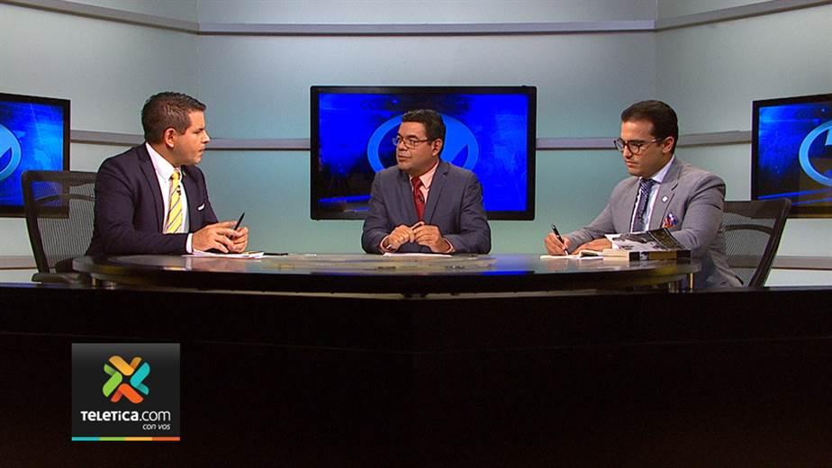 Herman Duarte y Fabricio Alvarado debate en Teletica.
