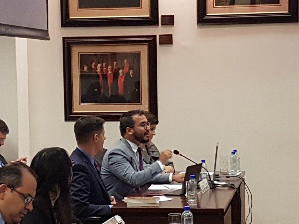 Duarte presenta alegatos ante la Corte Interamericana de Derechos Humanos