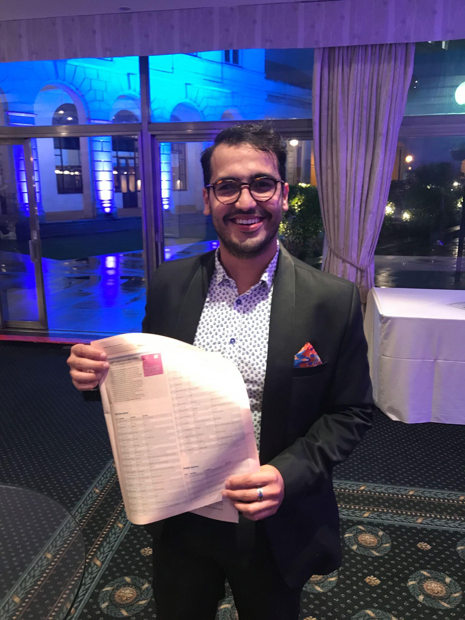 Herman Duarte en la gala del año 2017, año en que fue incluido en la lista por primera vez.