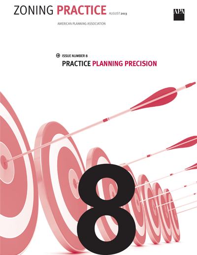 Code-Ready Sustainable Planning - This article discusses the types of gaps communities may have between plan recommendations and code provisions and provides a primer on how planners can use quantifiable planning objectives to guide the development of zoning provisions.