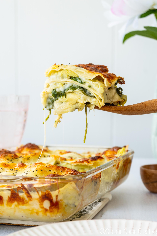 Spinach Artichoke Lasagna 3 - Sip and Spice.jpg