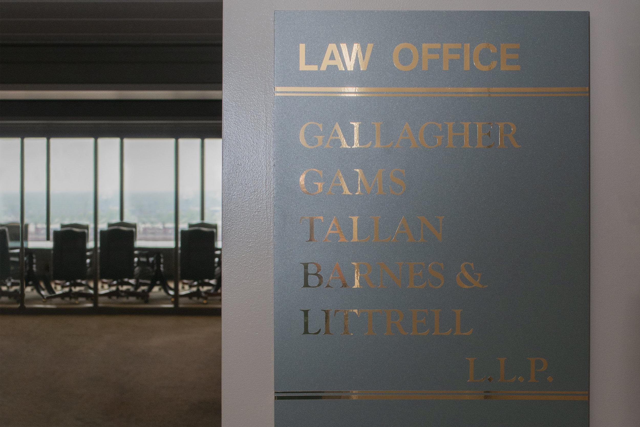Oh Law Firm >> Gallagher Gams Tallan Barnes Littrell