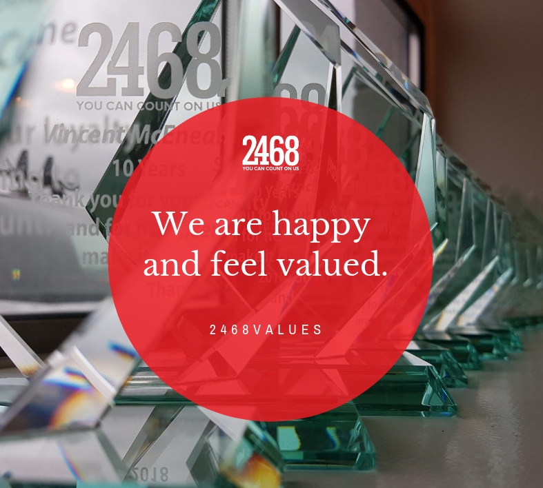 We are happy and feel valued