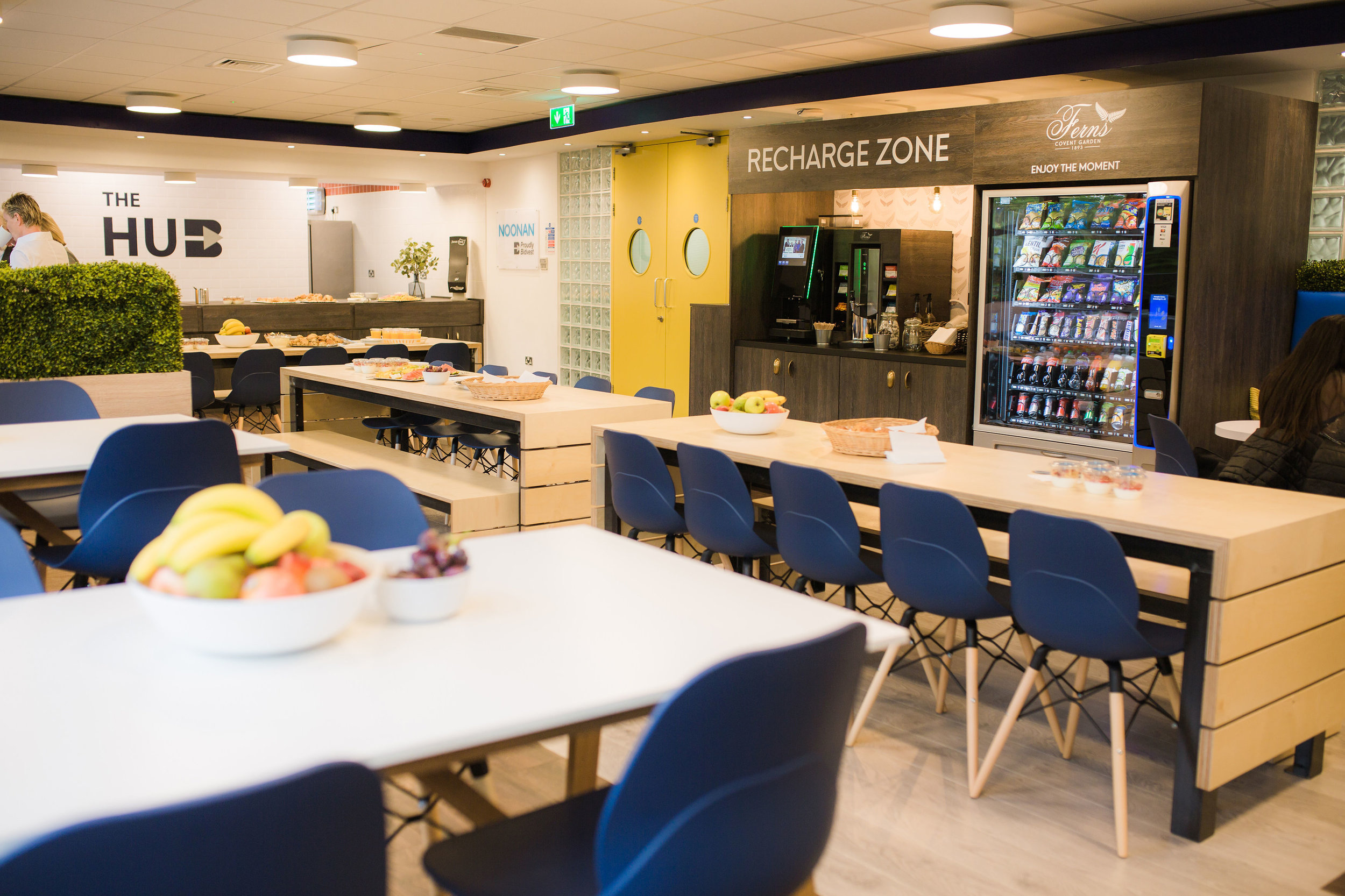 Personalised engaging break out zones centred around coffee