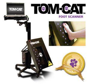 tampa fl podiatrist uses foot scanner for custom molded orthotics