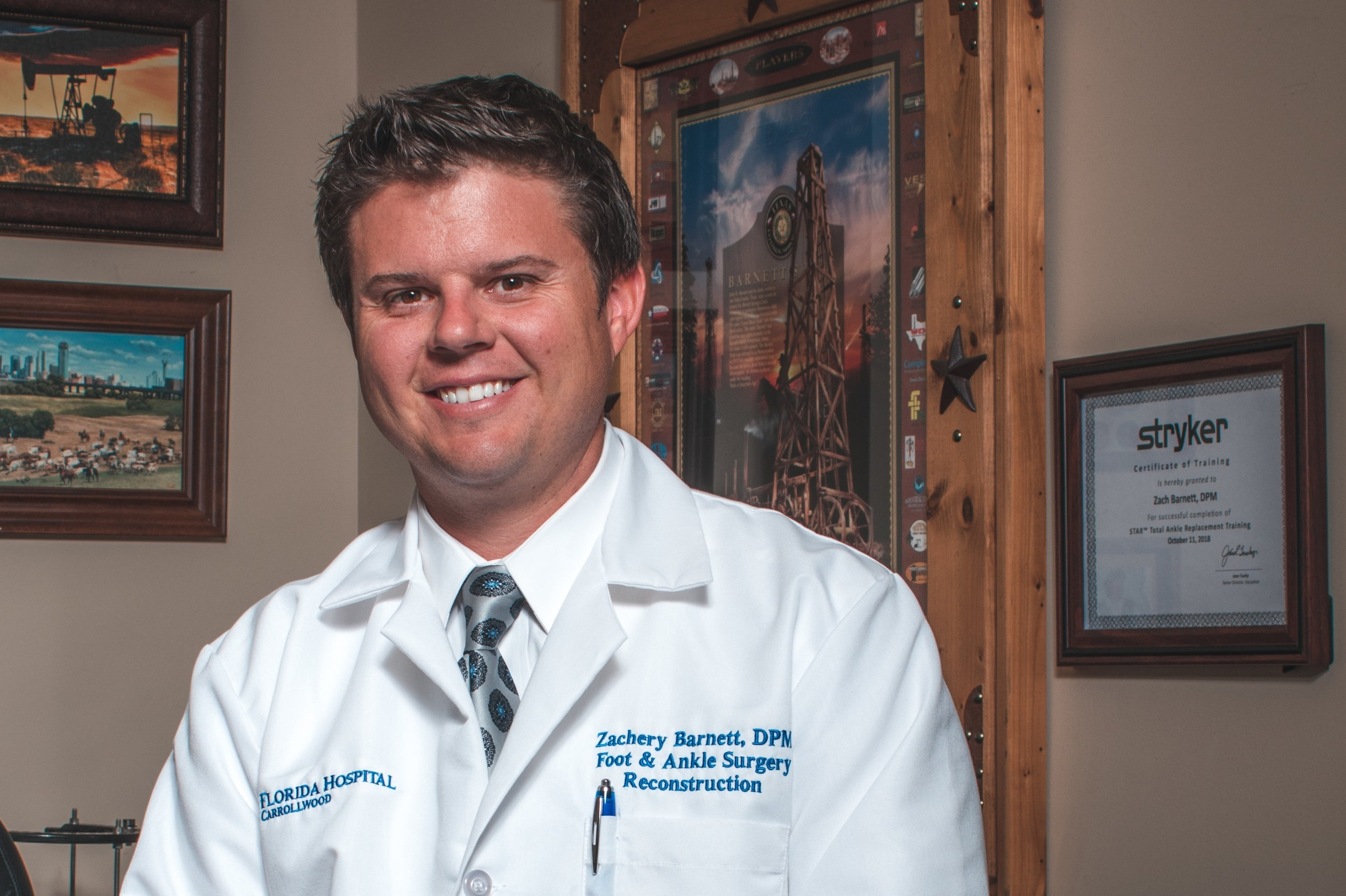 podiatrist, foot surgeon dr. zachery barnett tamp