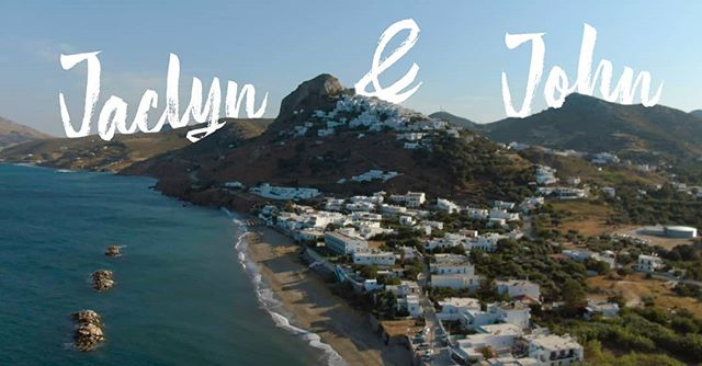 #tbt A collection of stills from the beautiful wedding of John & Jaclyn Trahanas in Greece this past July! Had a blast shooting it and hanging out with these fine folks. 😎 • #greece #skyros #greek #island #wedding #video #videography #weddingvideo #drone #dji #maviczoom2 #sonya7iii #travel