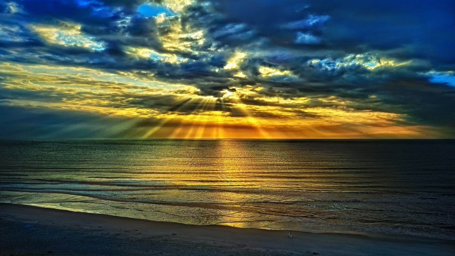 Sunset with Rays