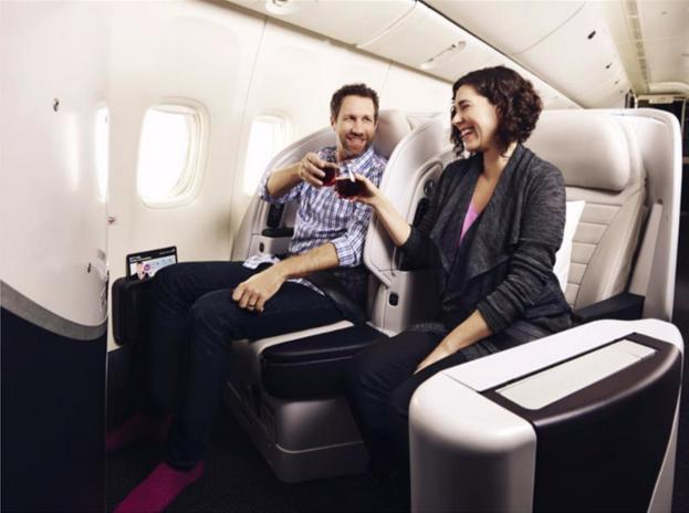 Return Premium Economy Flights (LAX,IAH,ORD or SFO-AKL) + 1 Night Accom
