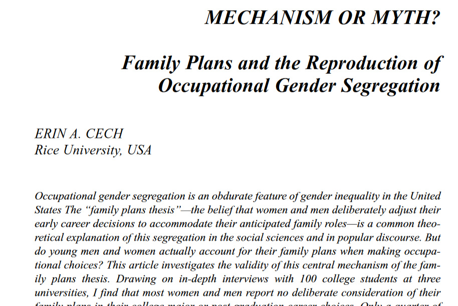 Cech 2016, Gender & Society