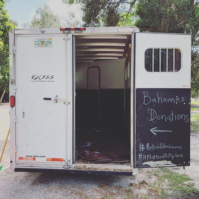 Ready to start taking donations for those who lost everything in the Bahamas during Dorian. Forward, Upward, Onward, together. #freeport #abaco #grandbahamas #rebuildbahamas #hurricanerelief #bstrong #ItMattersToMyrland #MyrlandStables